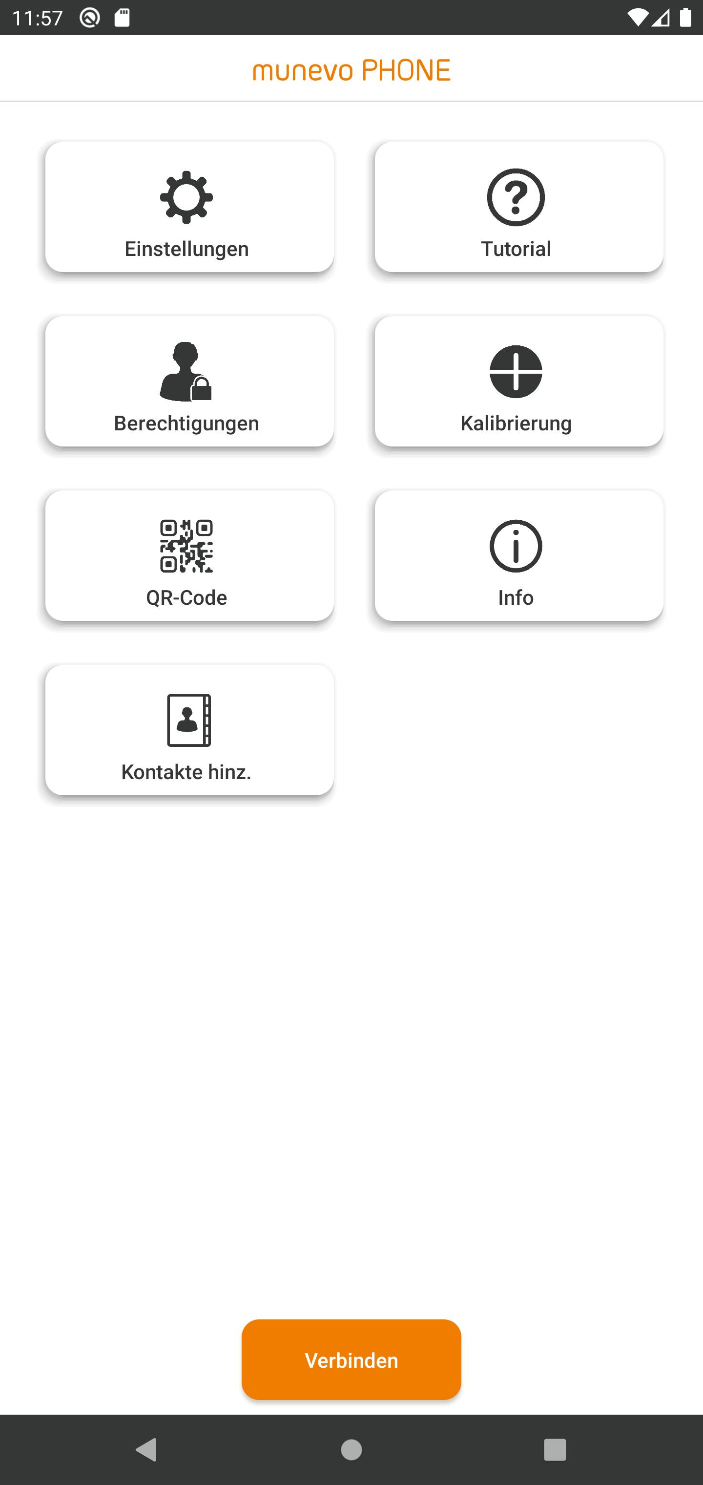 Erweiterung zur Rollstuhlsteuerung Main App-Ansicht